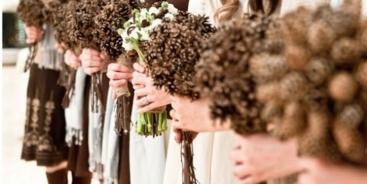 Свадебные букеты идеи с шишками