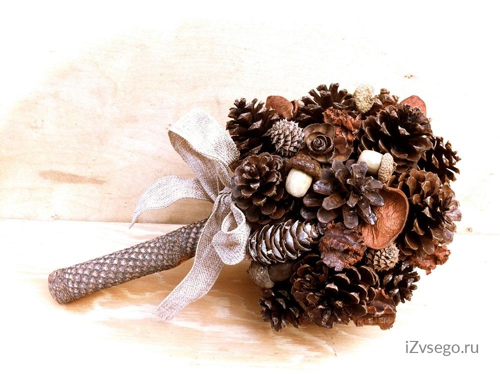 Зимний букет своими руками из природного материала фото